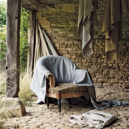 Sanderson Woodland Plain Grey/Blue Fabric 235624