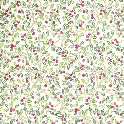 Sanderson Wild Berries Fern/Mulberry Fabric 226743