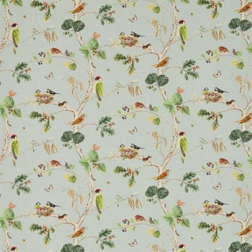 Sanderson Woodland Chorus Sky Blue/Multi Fabric 225509