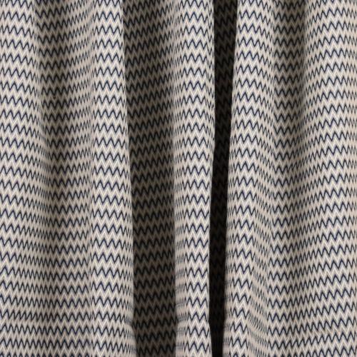 Gordon Smith Small Herringbone Blue Fabric