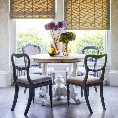 Harlequin Alvar Linen/Olive Curtain Fabric 131580