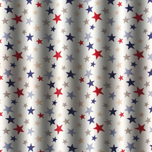 Gordon Smith Funky Stars Blue Fabric