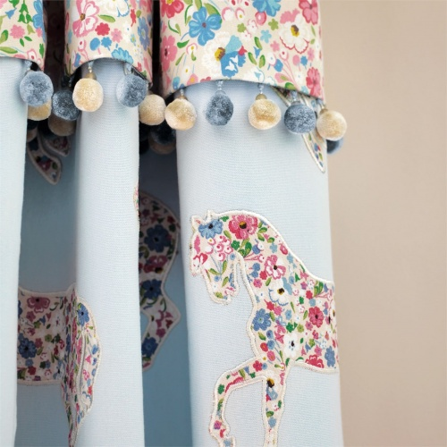 Sanderson Pretty Ponies Chintz/Blue Fabric 233925