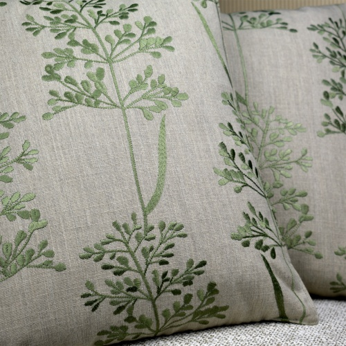 Fibre Naturelle Beaulieu Overtly Olive Curtain Fabric BEU/05