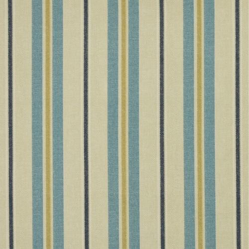 Gordon Smith Tweet Stripe Sky Curtain Fabric