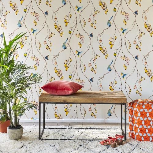 Harlequin Iyanu Papaya/Kiwi Wallpaper 111770