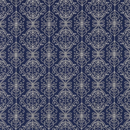 Harlequin Java Indigo/Ink Curtain Fabric 131519