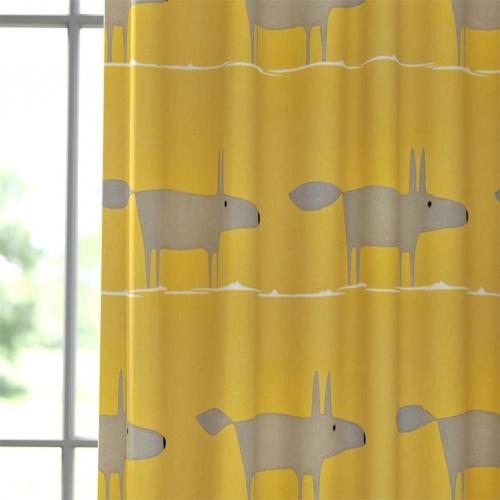Scion Mr Fox Sunflower Gull and Chalk Fabric 120923