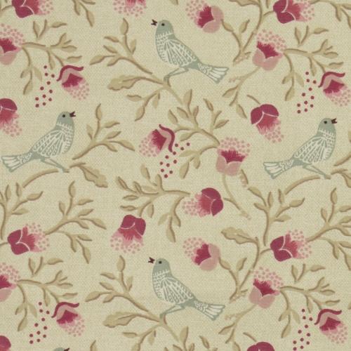 Gordon Smith Tweet Pink Curtain Fabric