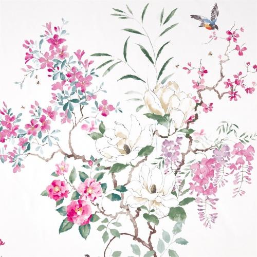 Sanderson Magnolia & Blossom Blossom/Leaf Fabric 226292
