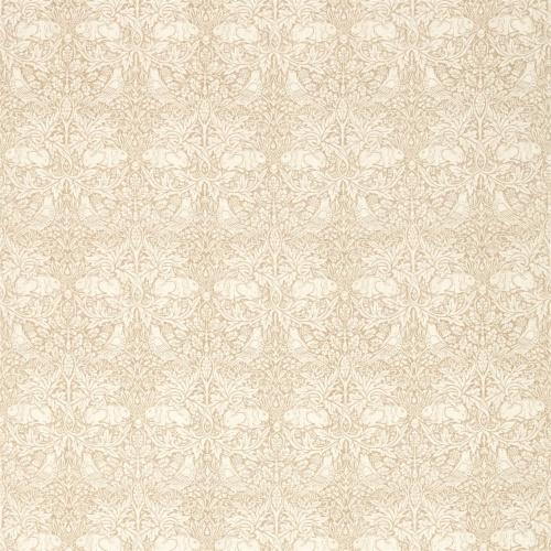 Morris & Co Pure Brer Rabbit Print Flax Fabric 226477