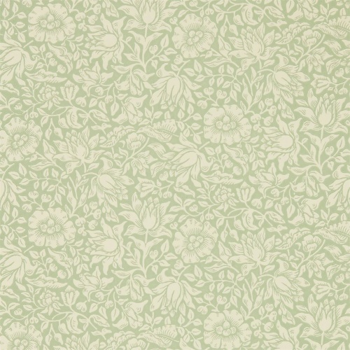 Morris & Co Mallow Apple Green Wallpaper 216678