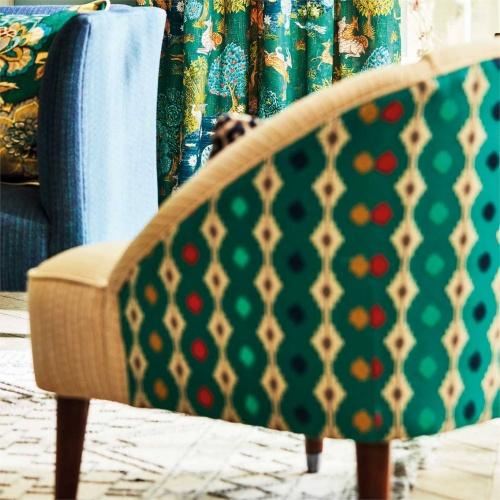 Sanderson Mossi Tyrian Fabric 236890