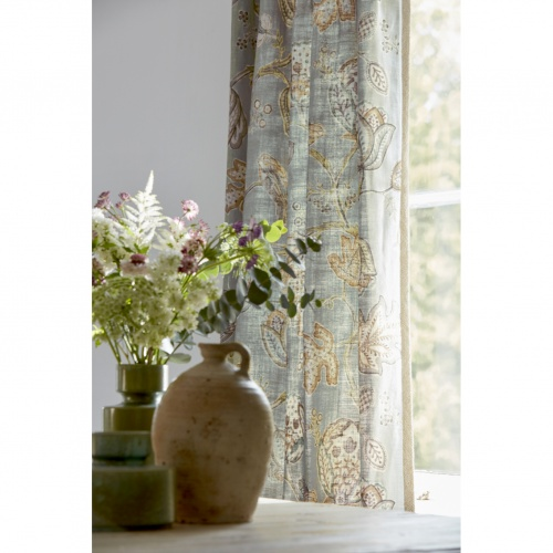 Morris & Co Theodosia Grey Fabric 226596
