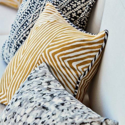 Harlequin Zamarra Saffron Curtain Fabric 133059