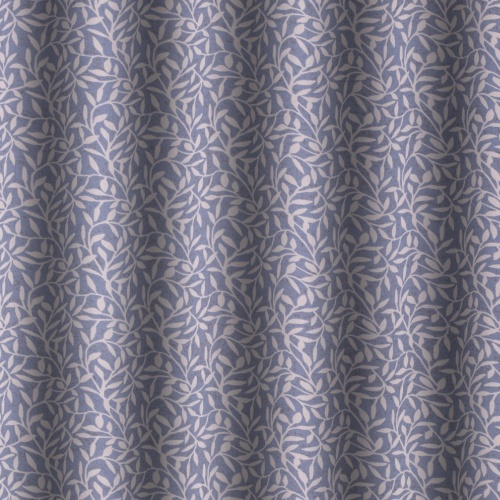 Gordon Smith Leaf Posy Blue Curtain Fabric