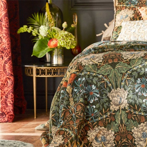 Morris & Co Honeysuckle & Tulip Velvet Woad/Mulberry 236940