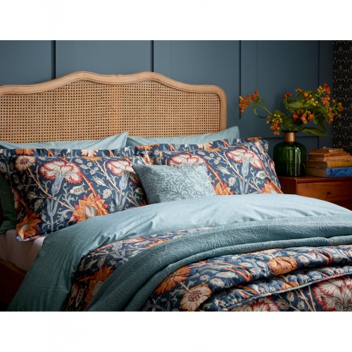 William Morris Pink & Rose Teal Single Duvet Set
