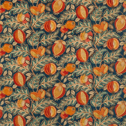 Sanderson Cantaloupe Velvet Tumeric/Indigo Fabric 226636