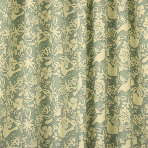 Gordon Smith Shadow Bird Duck Egg Fabric 5.1m Remnant