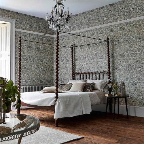 Morris & Co Wandle Grey/Stone Wallpaper 216423