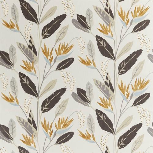 Harlequin Llenya Honey/Jet/Jute Curtain Fabric 120906