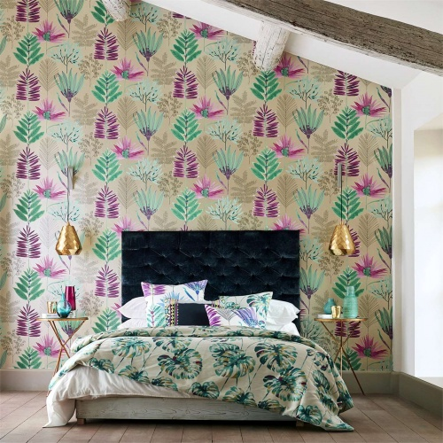 Harlequin Yasuni Lagoon/Cerise Wallpaper 111760