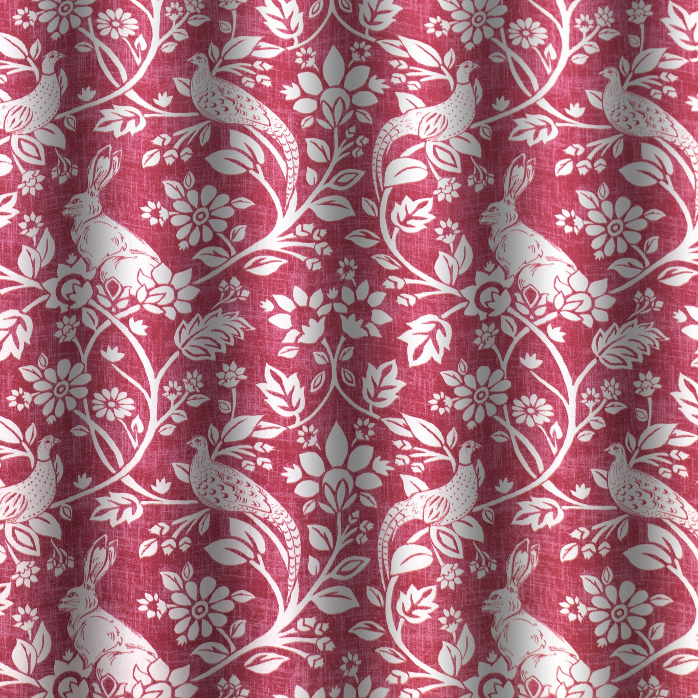 Swatch Box Heathland Rouge Curtain Fabric