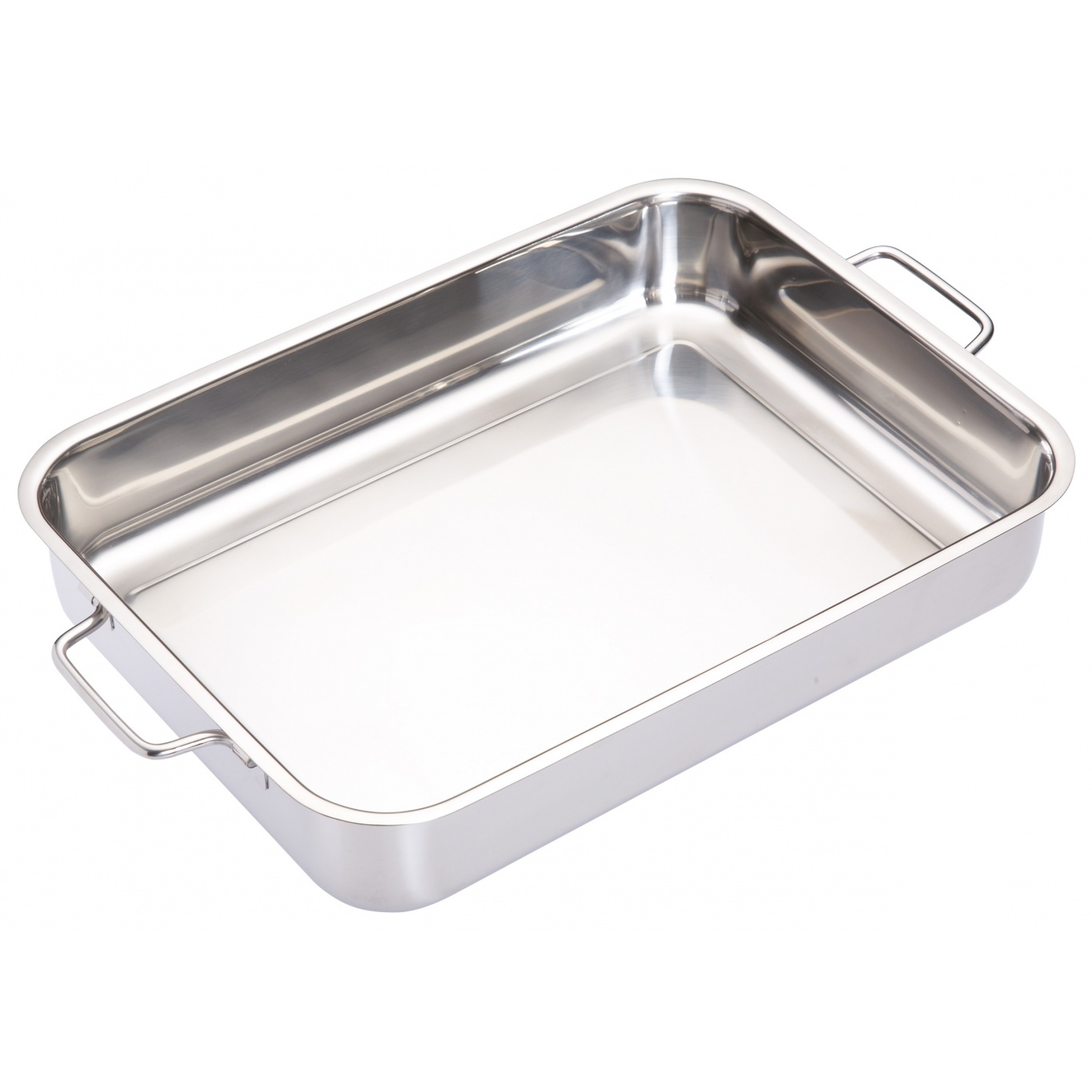 Image of Stainless Steel Heavy Duty Roasting Pan 37cm x 27cm x 6.5cm
