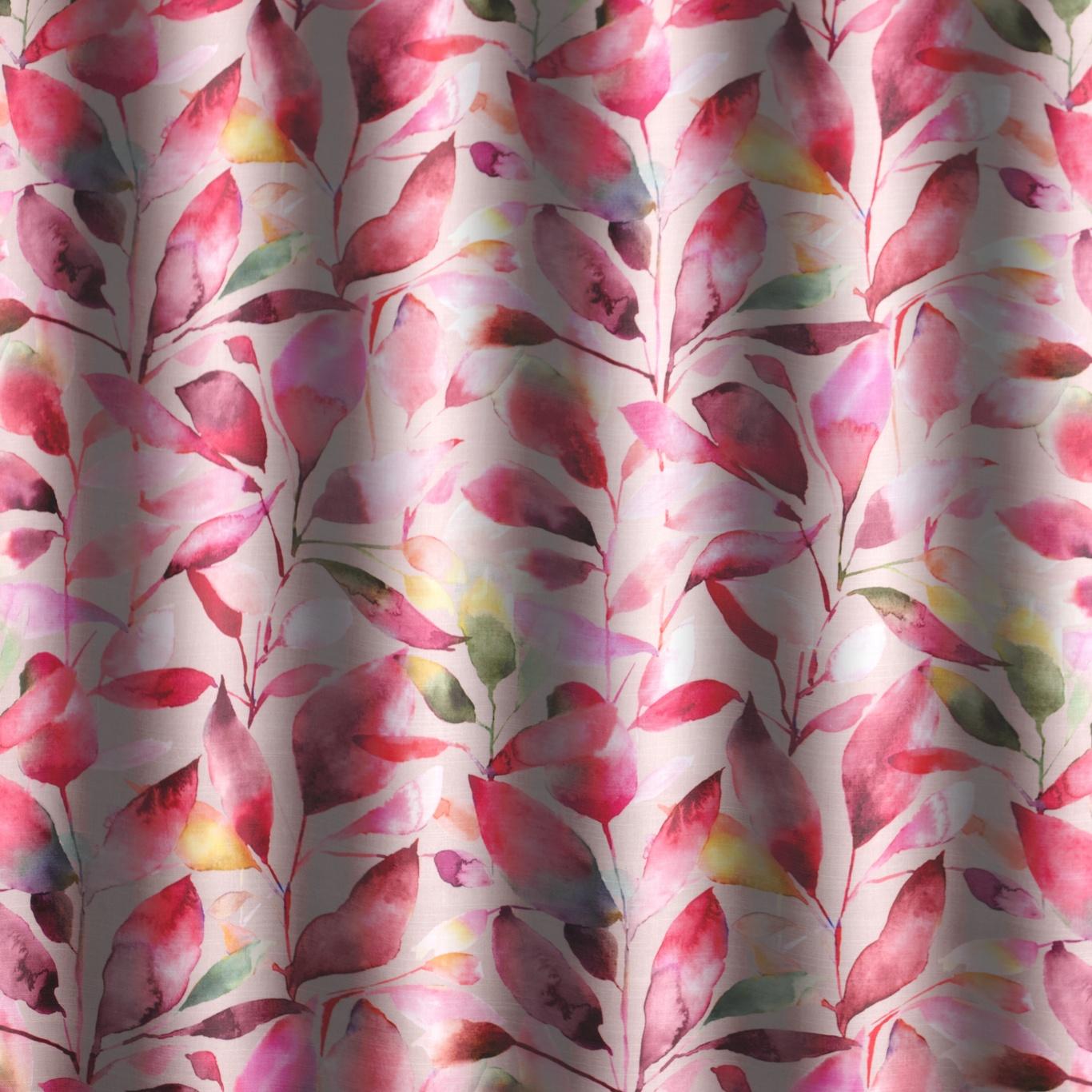 Voyage Brympton Raspberry Curtain Fabric