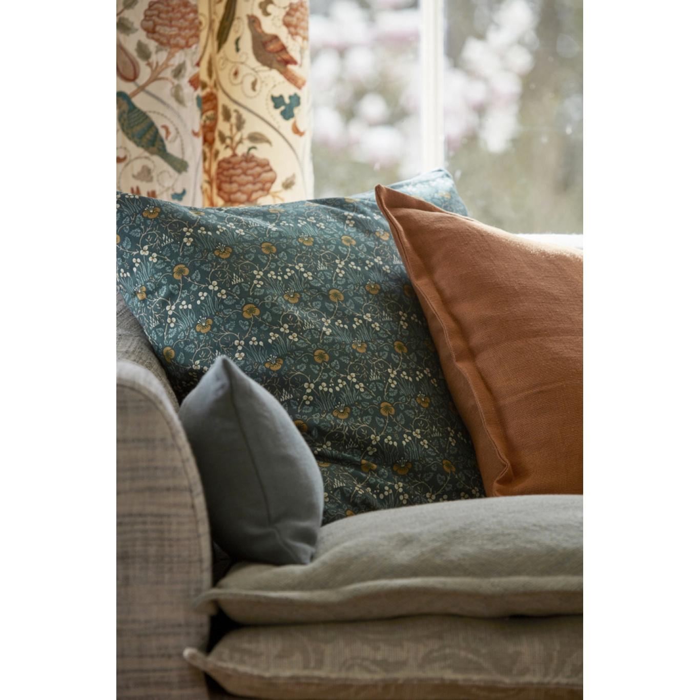 Morris & Co Eye Bright Teal Fabric 226598