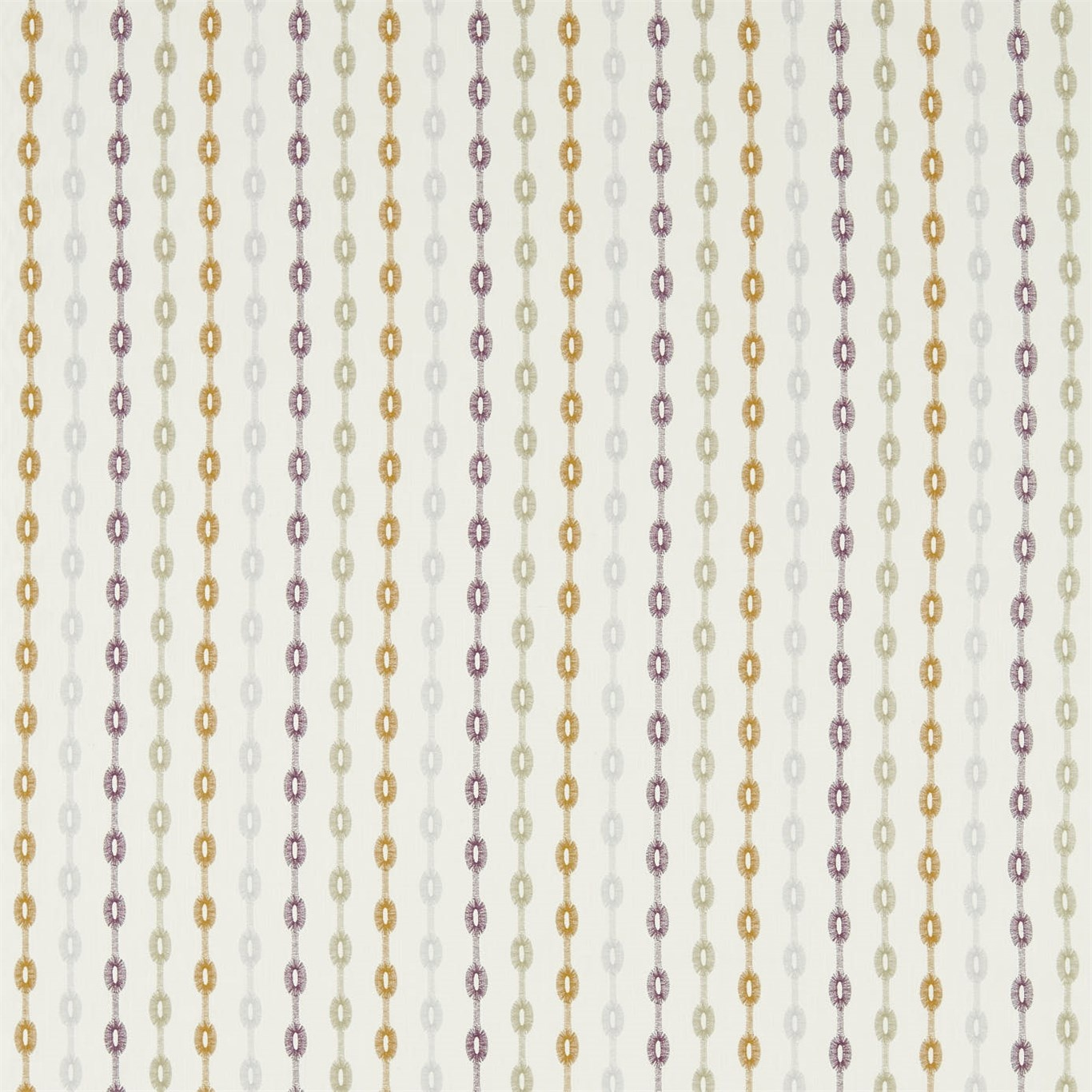 Image of Sanderson Home Shaker Stripe Fig/Olive Curtain Fabric 235892