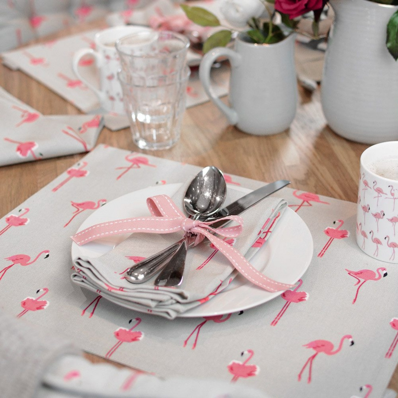 Sophie Allport Flamingo Napkins Set of 4