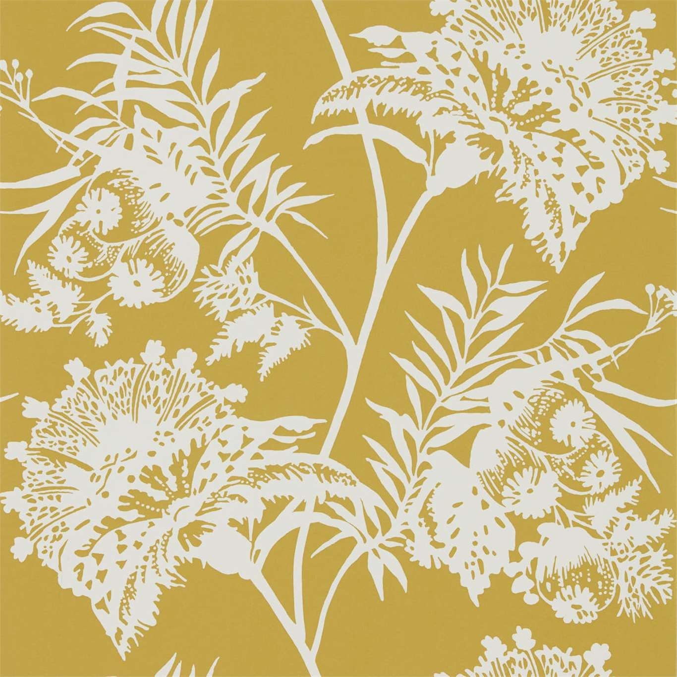 Image of Harlequin Bavero Ochre Wallpaper 111764