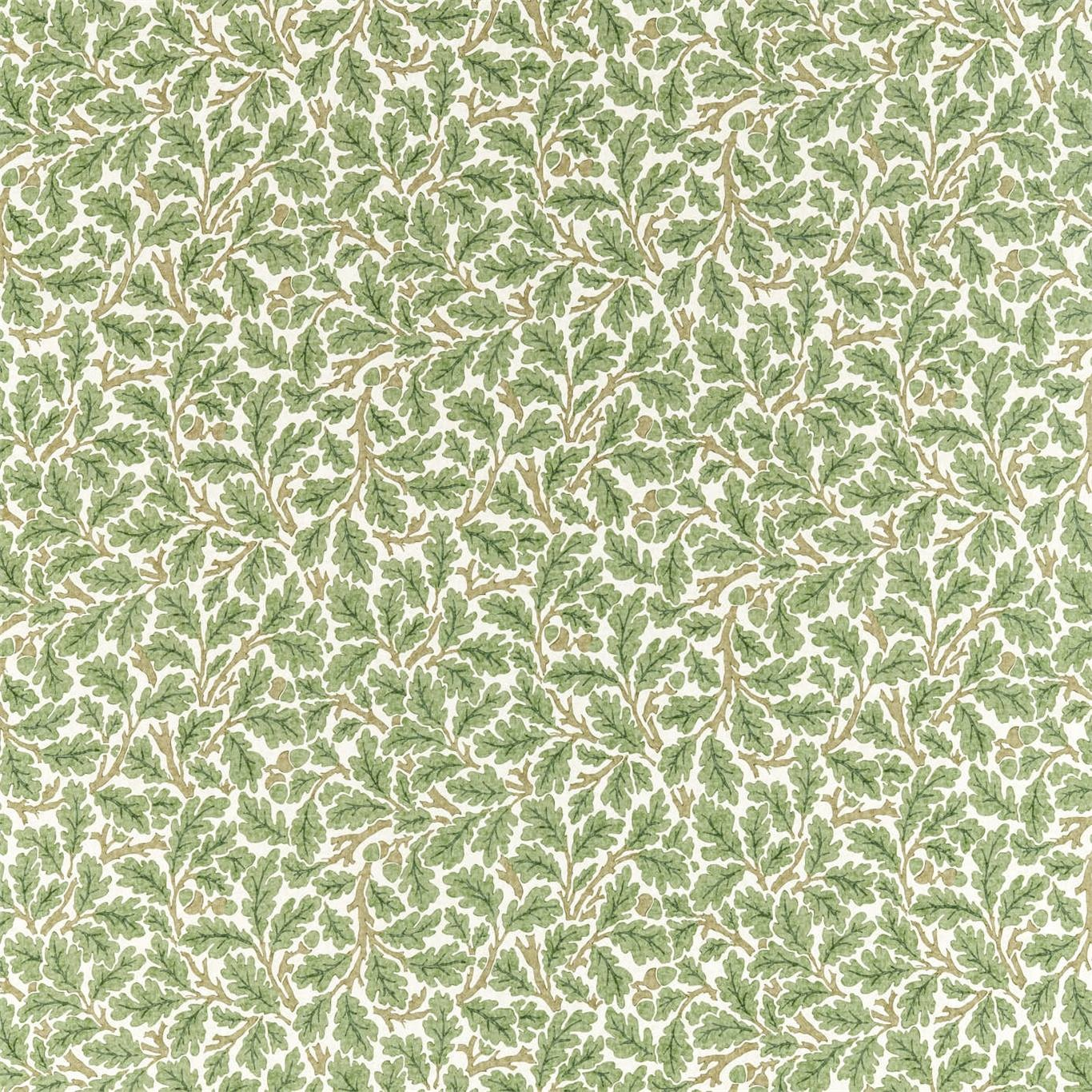 Image of Morris & Co Oak Forest/Cream Fabric 226606