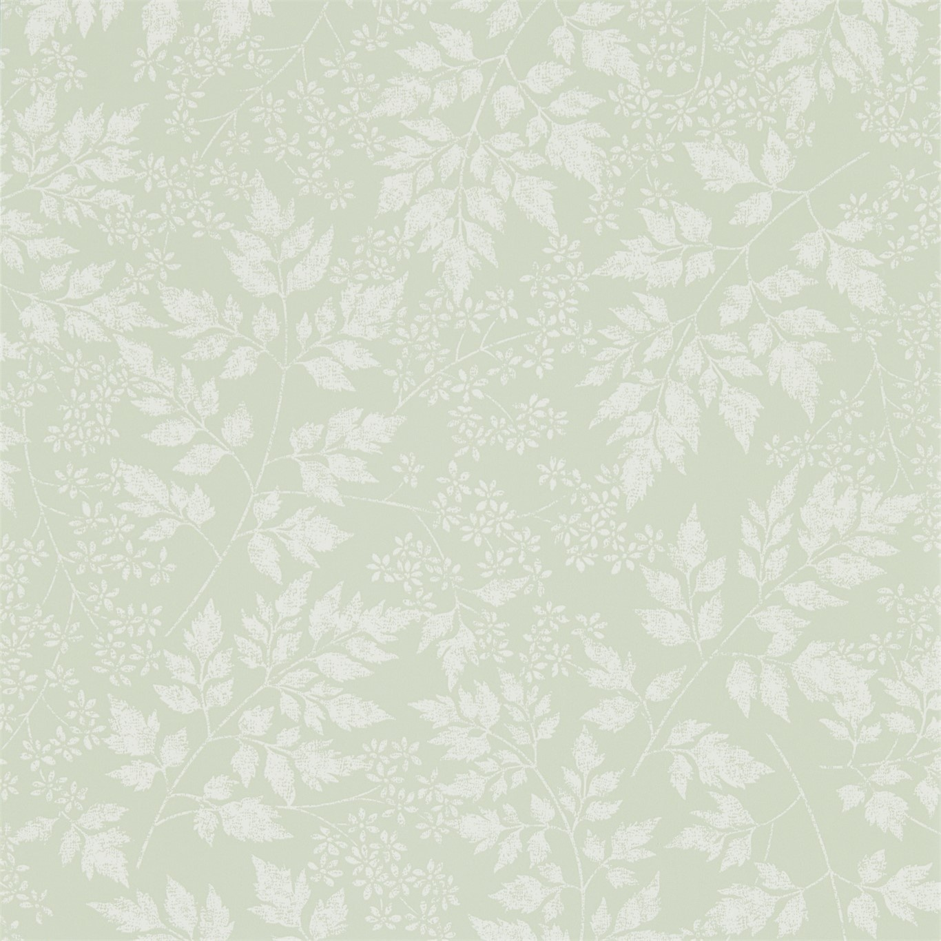 Image of Sanderson Home Spring Leaves Celadon Wallpaper 216372