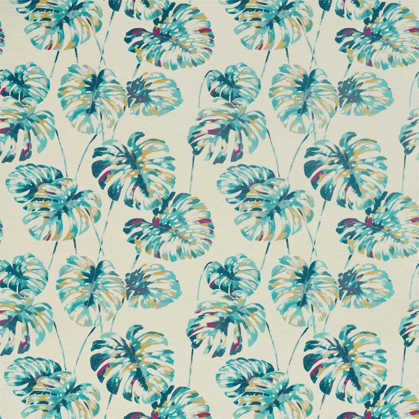 Image of Harlequin Kelapa Lagoon/Cerise Curtain Fabric 132646