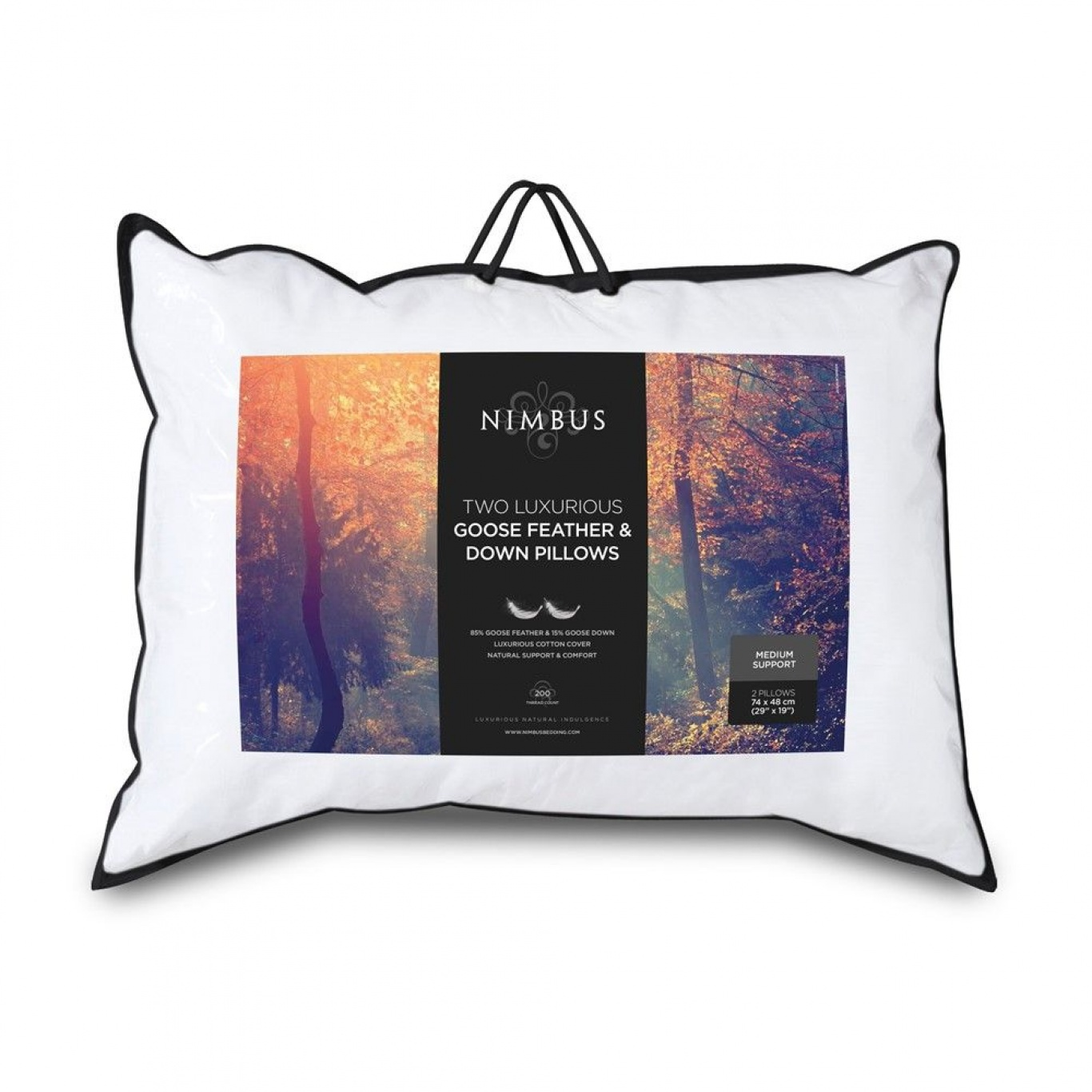 Image of Nimbus Goose Feather and Down Pillow Pair