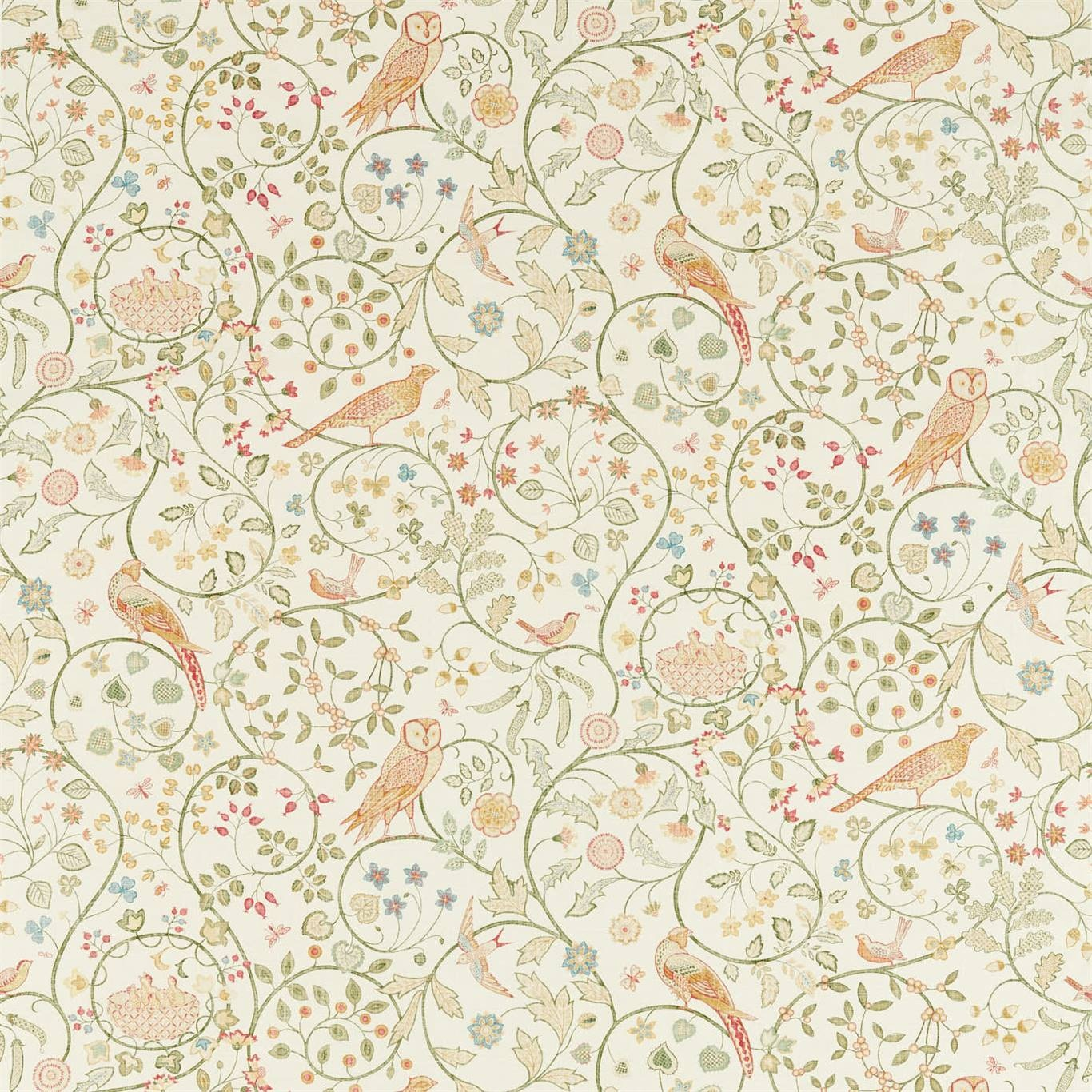 Image of Morris & Co Newill Chintz Fabric 226589