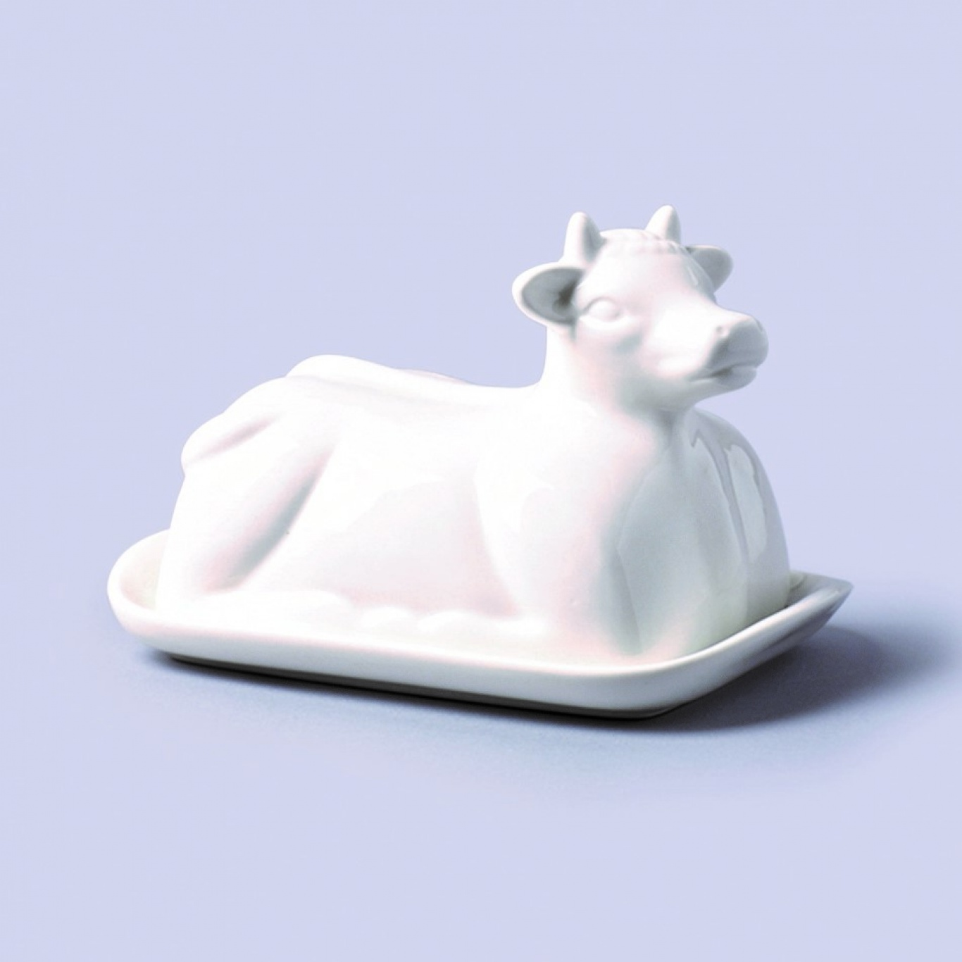 Image of Cow Shaped Butter Dish