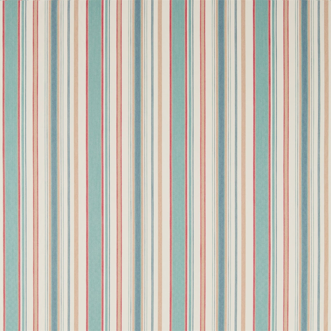 Image of Sanderson Home Dobby Stripe Brick Curtain Fabric 235896