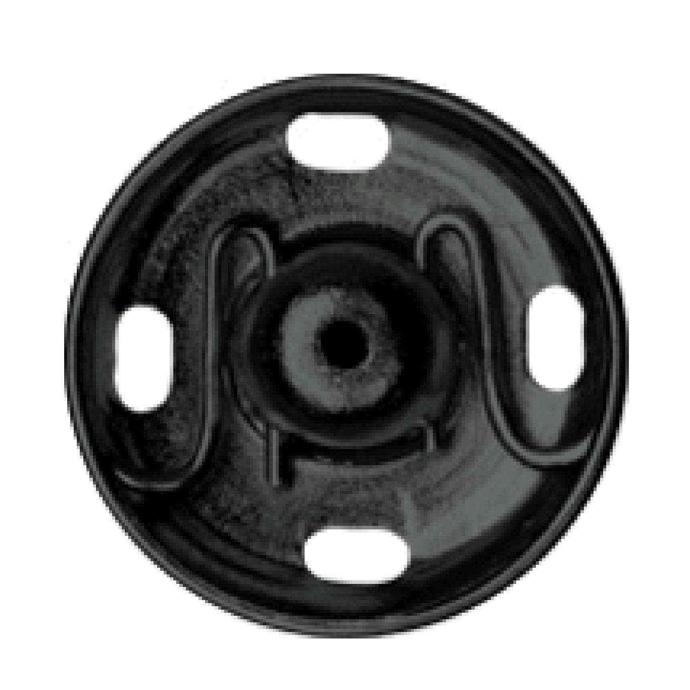Black Sew-on Snap Fasteners | 15mm
