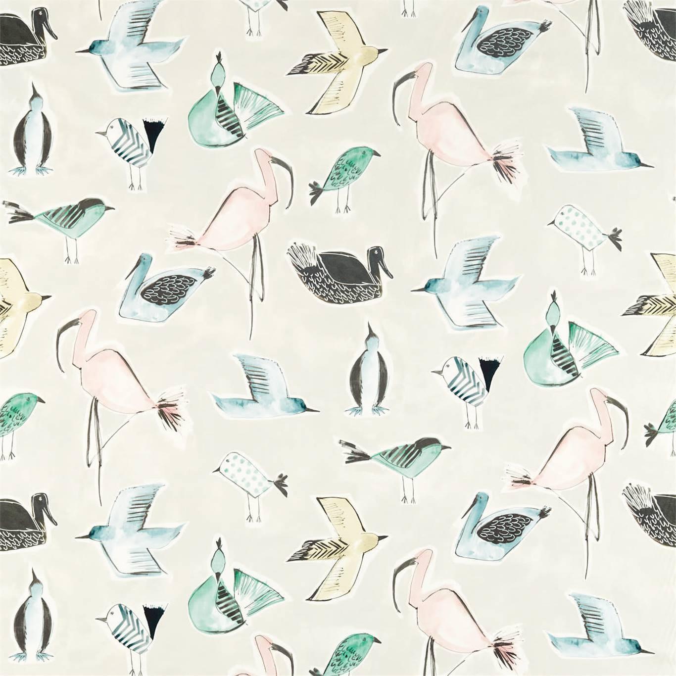Image of Scion Menagerie Blush/Mint Fabric 120784