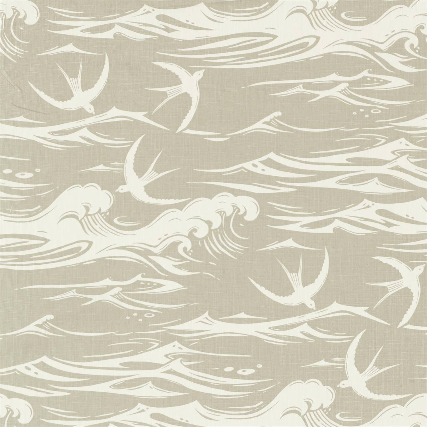 Image of Sanderson Swallows at Sea Linen Fabric 226742