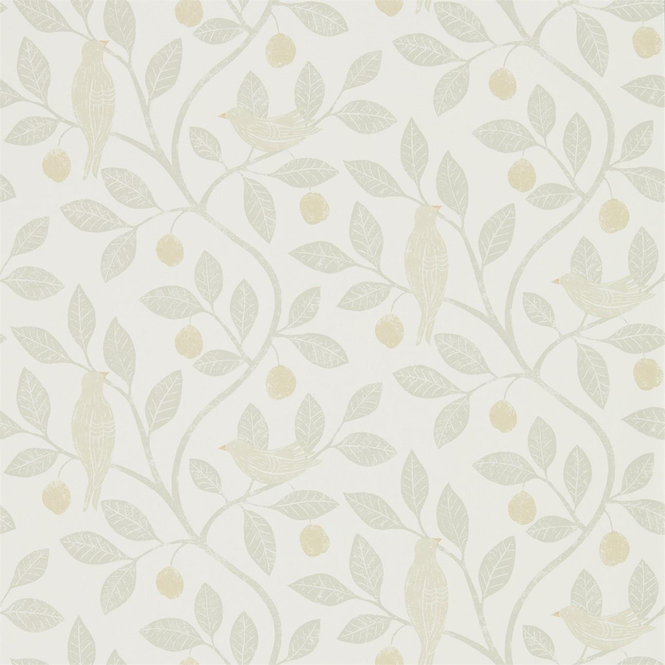 Image of Sanderson Home Damson Tree Linen/Honey Wallpaper 216366