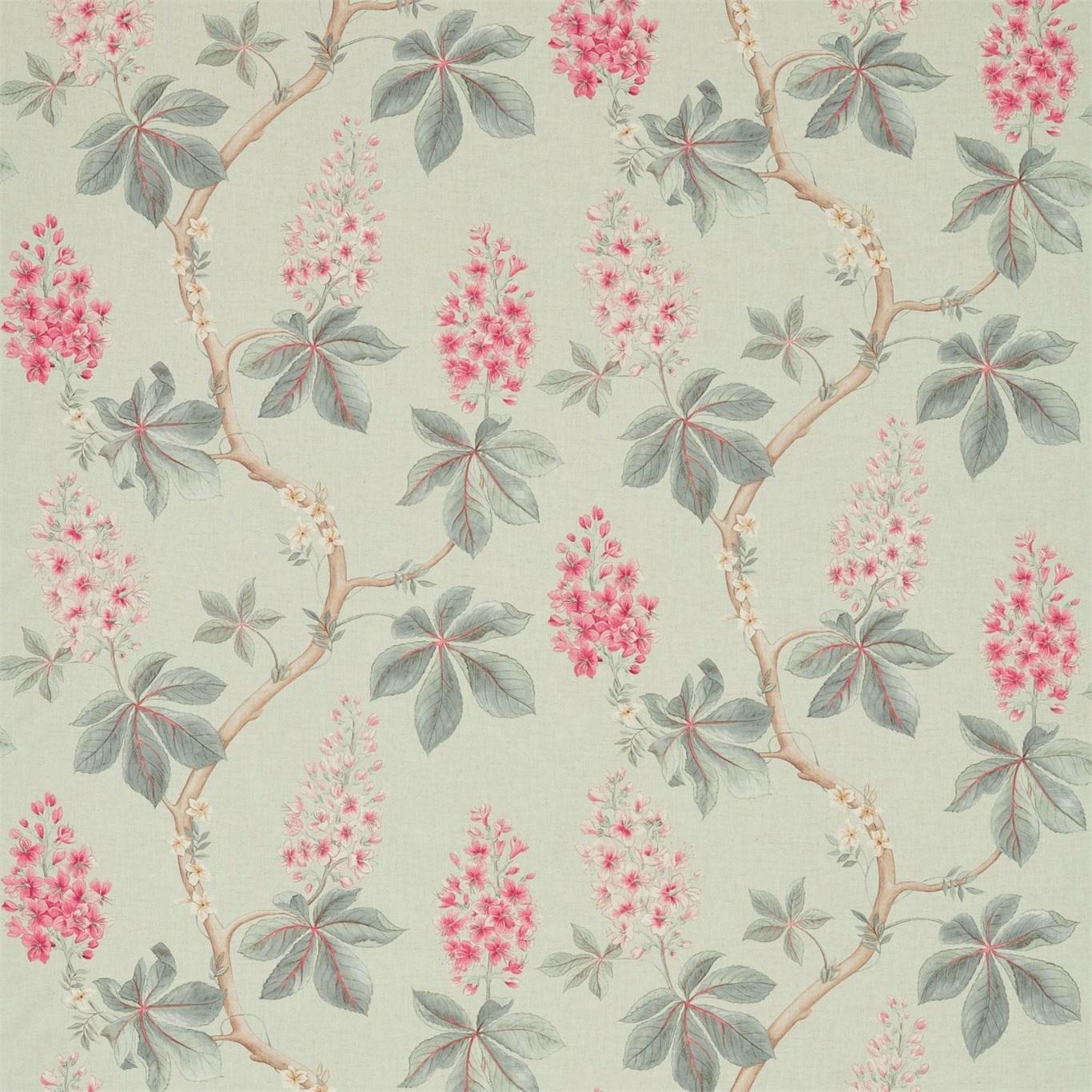 Image of Sanderson Chestnut Tree Seaspray/Peony Fabric 225515