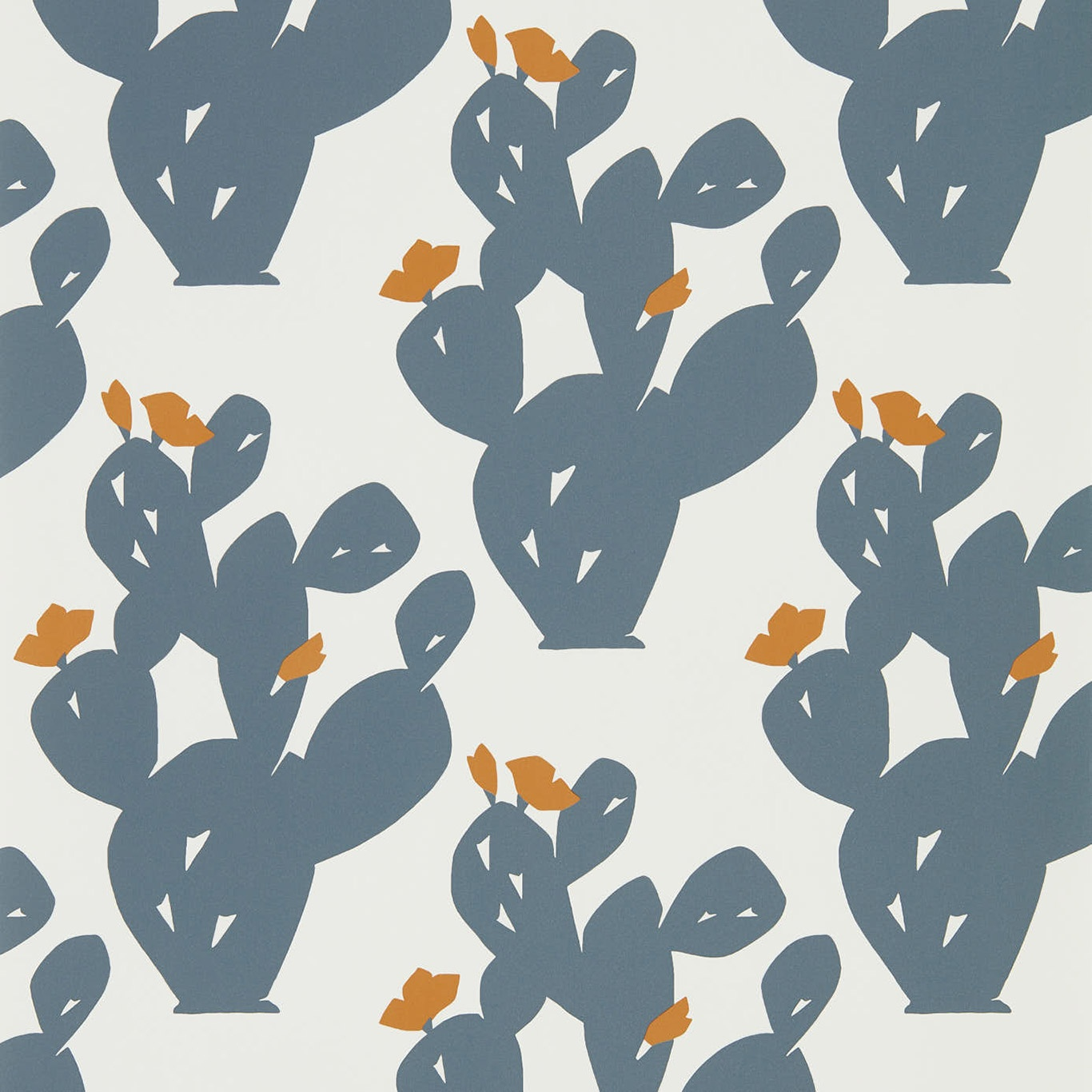 Image of Scion Opunita Charcoal/Paprika Wallpaper 111801