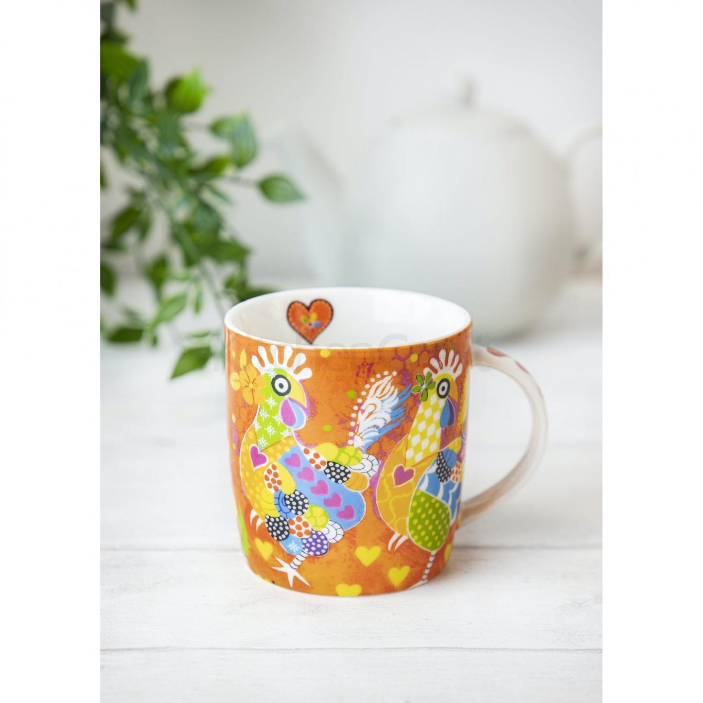 Maxwell & Williams Chicken Dance Mug & Coaster Set