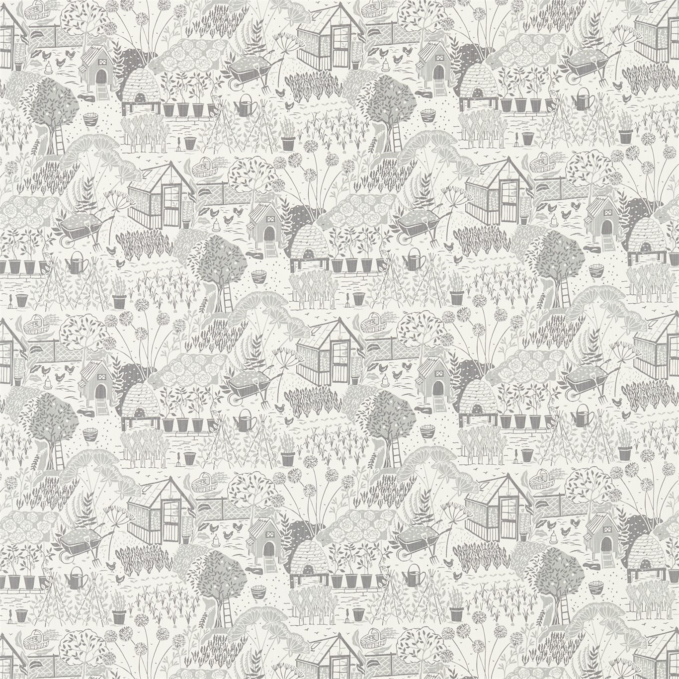 Image of Sanderson Home The Allotment Dove Fabric 226359