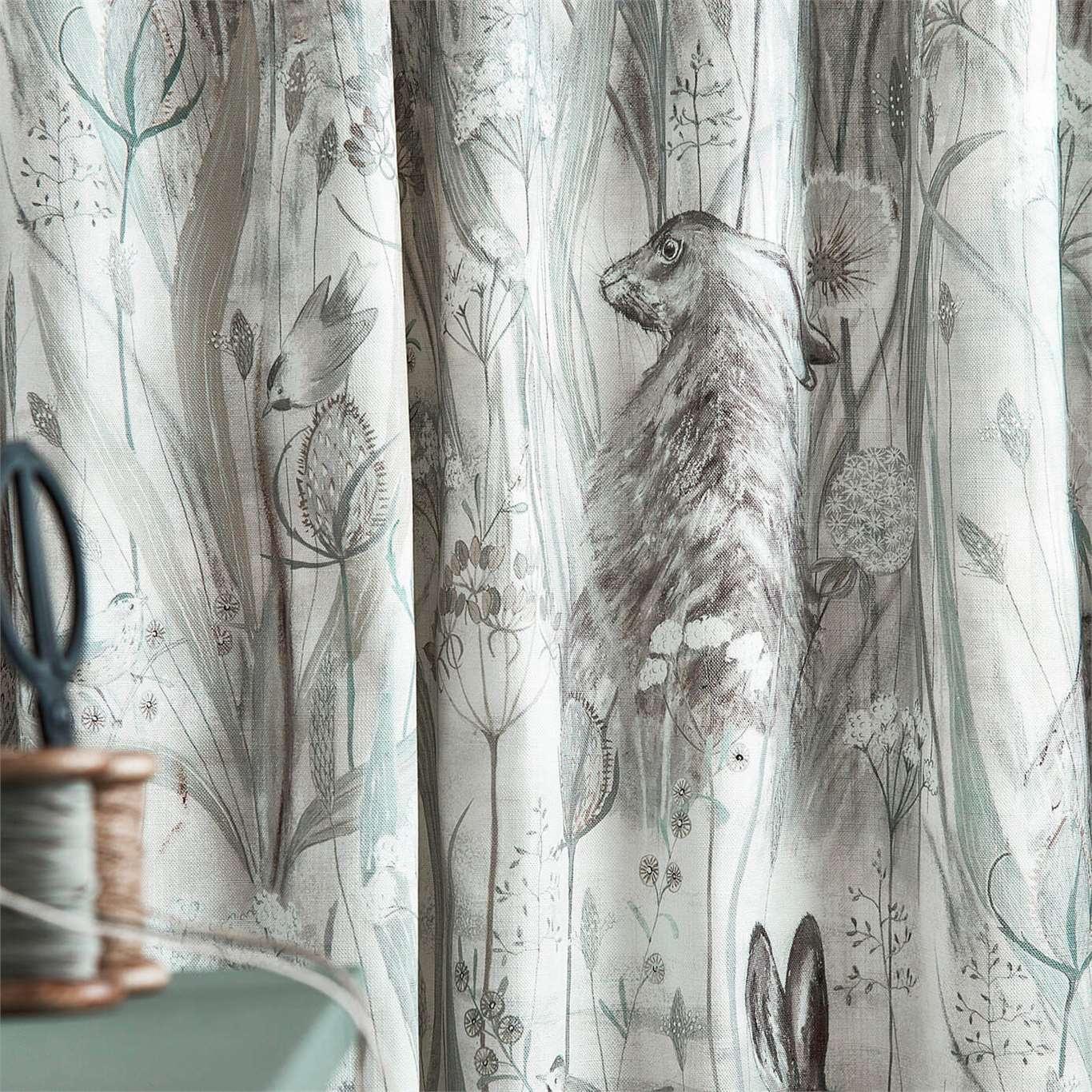 Sanderson Dune Hares Mist/Pebble Curtain Fabric 226436